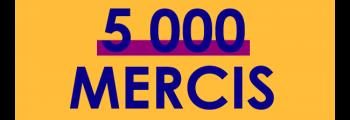 5000 abonnés sur Facebook